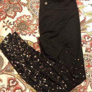 Lululemon Black/Gold Leggings from Lunar New Year